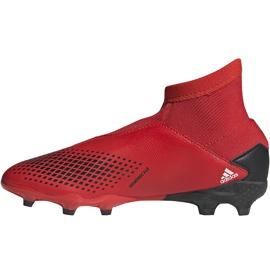 Buty piłkarskie adidas Predator 20.3 Ll Fg Jr EF1907 czerwony,czarny czerwone 2