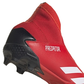 Buty piłkarskie adidas Predator 20.3 Ll Fg Jr EF1907 czerwony,czarny czerwone 4