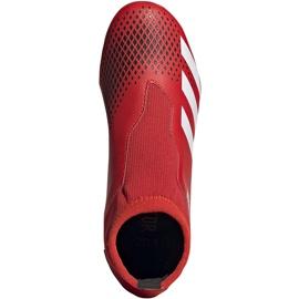 Buty piłkarskie adidas Predator 20.3 Ll Fg Jr EF1907 czerwony,czarny czerwone 1