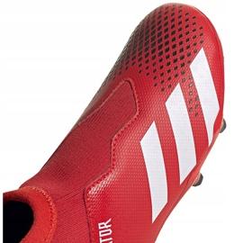 Buty piłkarskie adidas Predator 20.3 Ll Fg Jr EF1907 czerwony,czarny czerwone 3