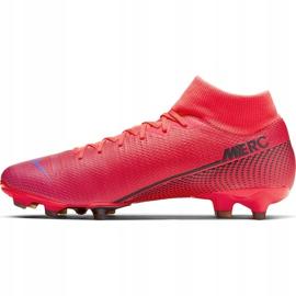 Buty piłkarskie Nike Mercurial Superfly 7 Academy FG/MG AT7946 606 czerwone granatowe 2
