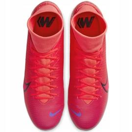 Buty piłkarskie Nike Mercurial Superfly 7 Academy FG/MG AT7946 606 czerwone granatowe 1