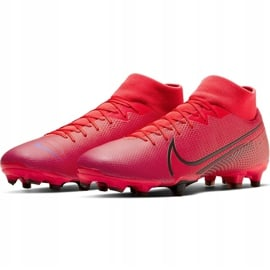 Buty piłkarskie Nike Mercurial Superfly 7 Academy FG/MG AT7946 606 czerwone granatowe 3