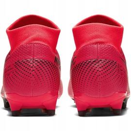 Buty piłkarskie Nike Mercurial Superfly 7 Academy FG/MG AT7946 606 czerwone granatowe 4