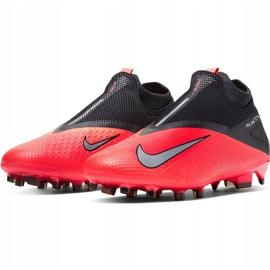 Buty piłkarskie Nike Phantom Vsn 2 Pro Df Fg CD4162 606 czerwone czerwony,czarny 3