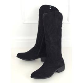 Kozaki kowbojki czarne 231-B0 Black 1
