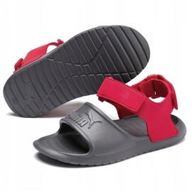 Sandały dla dzieci Puma Divecat v2 Injex Ps szaro-czerwone 369546 05 szare 3