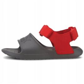 Sandały dla dzieci Puma Divecat v2 Injex Ps szaro-czerwone 369546 05 szare 2