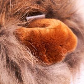 HAN Damskie Botki Śniegowce Ocieplane Skórzane Camel Balvin brązowe 4