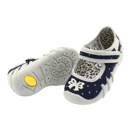 Befado obuwie dziecięce 109P202 granatowe srebrny szare 3