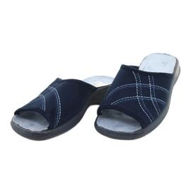 Befado obuwie damskie pu 442D147 niebieskie 3