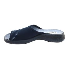 Befado obuwie damskie pu 442D147 niebieskie 2