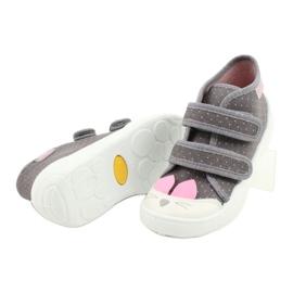Befado obuwie dziecięce 212P059 szare różowe 4