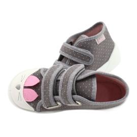 Befado obuwie dziecięce 212P059 szare różowe 5