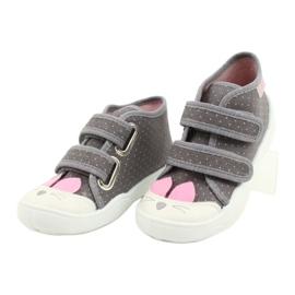 Befado obuwie dziecięce 212P059 szare różowe 3