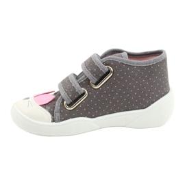 Befado obuwie dziecięce 212P059 szare różowe 2