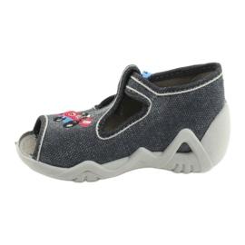 Befado obuwie dziecięce 217P106 niebieskie szare 2