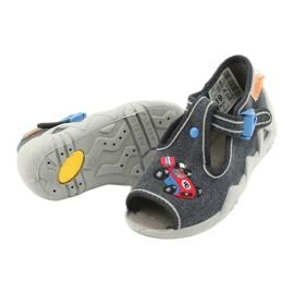 Befado obuwie dziecięce 217P106 niebieskie szare 4