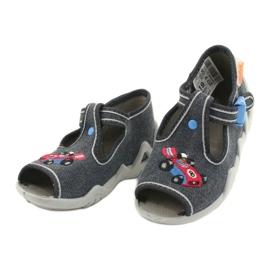 Befado obuwie dziecięce 217P106 niebieskie szare 3