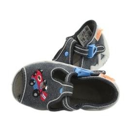 Befado obuwie dziecięce 217P106 niebieskie szare 5