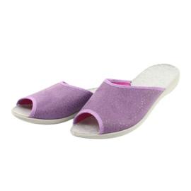 Befado obuwie damskie pu 254D116 fioletowe 3