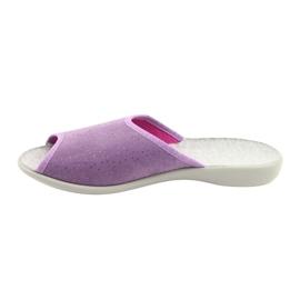 Befado obuwie damskie pu 254D116 fioletowe 2