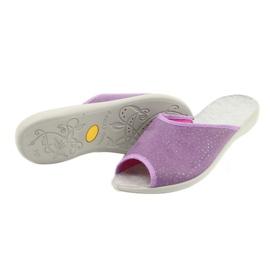 Befado obuwie damskie pu 254D116 fioletowe 4