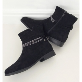 Botki damskie czarne 688-201 Black 1