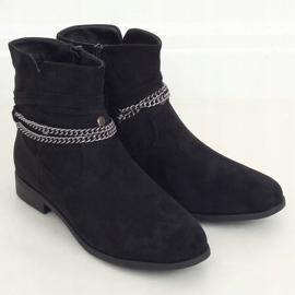 Botki damskie czarne 688-201 Black 2