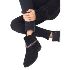 Botki damskie czarne 688-201 Black 3