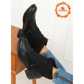 Botki militarne czarne 88039 Black 4