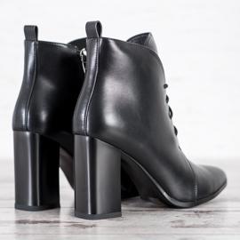 Goodin Eleganckie Sznurowane Botki czarne 2