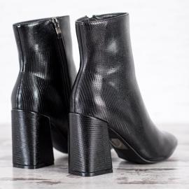 Goodin Botki Na Słupku Fashion czarne 1