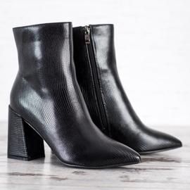 Goodin Botki Na Słupku Fashion czarne 2