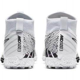 Buty piłkarskie Nike Mercurial Superfly 7 Academy Mds Tf Junior BQ5407 110 białe 4
