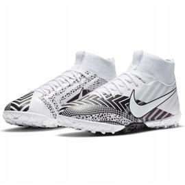 Buty piłkarskie Nike Mercurial Superfly 7 Academy Mds Tf Junior BQ5407 110 białe 3