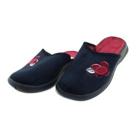 Befado obuwie damskie pu 019D121 czerwone granatowe 3