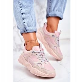 Buty sportowe Hell Rosa Big Star GG274655 beżowy różowe szare 1