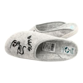 Kapcie Filcowe Wake Up Adanex 25642 Grey 5