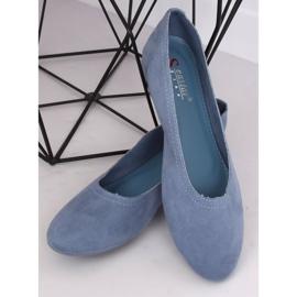 Miękkie baleriny damskie niebieskie NK17P Blue Ii Gatunek 3