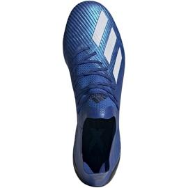 Buty piłkarskie adidas X 19.1 Sg niebieskie EG7144 2