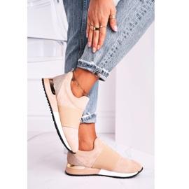 FB2 Sportowe Damskie Buty Sneakersy Slip-on Beżowe Say Something beżowy 3