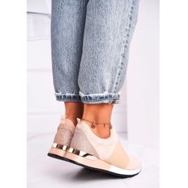 FB2 Sportowe Damskie Buty Sneakersy Slip-on Beżowe Say Something beżowy 4