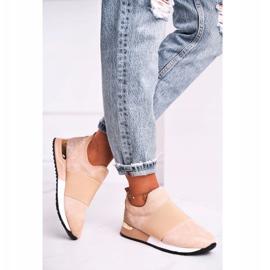 FB2 Sportowe Damskie Buty Sneakersy Slip-on Beżowe Say Something beżowy 5