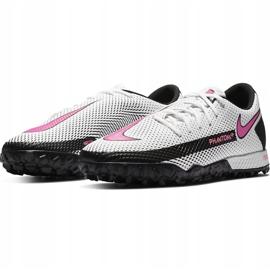 Buty piłkarskie Nike React Phantom Gt Pro Tf CK8468 160 białe białe 3