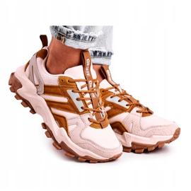Damskie Sneakersy Big Star Beżowe GG274664 beżowy 5