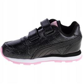 Buty Puma Vista Glitz V Infants Jr 369721-10 czarne różowe 1