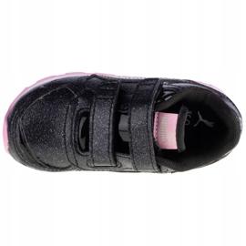 Buty Puma Vista Glitz V Infants Jr 369721-10 czarne różowe 2