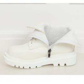 Buty na wysokiej podeszwie białe ID01 White 4