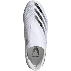 Buty piłkarskie adidas X Ghosted.3 Ll Fg Jr EG8151 wielokolorowe białe 4